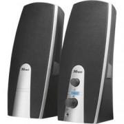 Trust PC reproduktory Trust MiLa, kabelový, 5 W, černá, stříbrná
