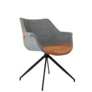 Fotel DOULTON 1200119 Zuiver nowoczesny fotel w dwóch kolorach szarym i klasycznym brązowym