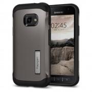 Spigen Slim Armor kitámasztó telefontok Samsung Galaxy Xcover 4 G390 szürke (Gunmetal) tok telefontok hátlap