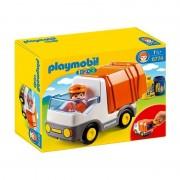 Playmobil 1.2.3 camion smaltimento rifiuti 6774