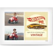 Optimalprint Personliga kollageaffischer, 1 st, bil, collage, äldre, photo poster, vintage, vit ram, beige, röd, retro, Optimalprint