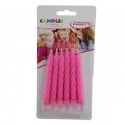 Sweeping party candeline monocolore rosa 12 pz
