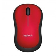 Logitech M185 USB Wireless Mouse - Red