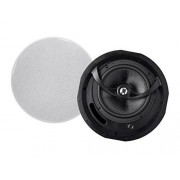 Monoprice Mono Alpha 2-Way Ceiling Speakers 6.5 Inch (Pair) Carbon Fiber, Paintable Magnetic Grille, Louder with Less Power