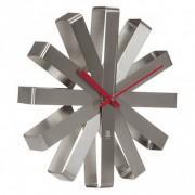 Стенен часовник Umbra Ribbon, цвят инокс