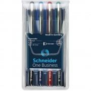 Roller 0,6 mm Schneider One Business set 4 culori