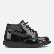 Kickers Kids' Kick Hi Patent Boots - Black - UK 2 Junior/EU 34 - Black