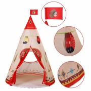 Children Indian Toy Teepee Safety Tent Portable Play House