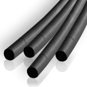 Tub termocontractant 2.5mm/1m negru set 10buc
