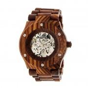 Earth Wood Grand Mesa Automatic Skeleton Bracelet Watch - Red ETHEW3103