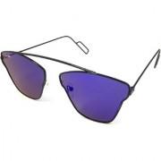 Silver Kartz Blue UV Protection Aviator Sunglasses
