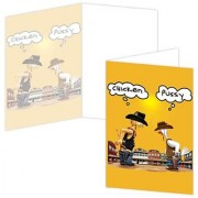ECOeverywhere Peer Pressure Standoff Boxed Card Set 12 Cards and Envelopes 4 x 6 Inches Multicolored (bc11846)