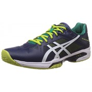 Asics Men's Gel-Solution Speed 3 Indigo Blue and Lime Tennis Shoes - 7 UK/India (41.5 EU) (8 US)