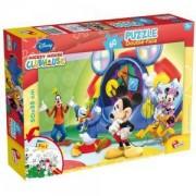 Детски двулицев Пъзел Club House Mickey Mouse, 47895, Lisciani, 8008324047895