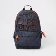 Superdry Mens Superdry dark Grey front logo backpack (One Size)