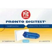 Artsana Spa Lancette Pungidito Sterili Pic Pronto Digitest + Tamponcino Assorbente Per Test Glicemia 25 Lancette Ago 28g + 25 Tamponi