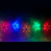 Светодиодная гирлянда Feron CL108 RGB разноцветные снежинки(26941)