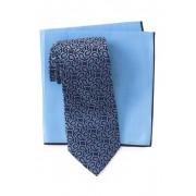 Ted Baker London Silk Tie Pocket Square Set NAVY