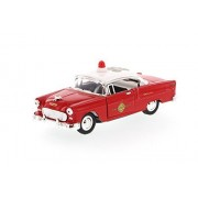 1955 Chevrolet Bel Air Fire Chief Car, Red Superior 5420 D 1/34 Scale Diecast Model Car