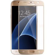 Folie protectie Sticla Temperata Yuppi Love Tech Full Body 3D Curved TEMPCVIP-SGS7-G pentru Samsung Galaxy S7 (Auriu)