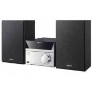 Sony CMT-SBT20 Stereoset AUX, Bluetooth, CD, NFC, FM, USB 12 W Zwart, Zilver