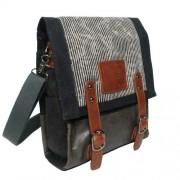LICENCE 71195 Jumper Canvas Vertical Messenger Bag Grey LBF10760-GY