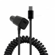 Mini Smile USB 3.1 Tipo-C a 2-Cargador de coche USB para Nintendo Switch
