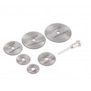 ER Herramienta Cuchillas Rotary Cutting Discs Mandril 7PCS Para Dremel Corte Circular Saw Plata $ Azul.