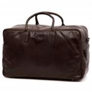 Lucleon Montreal Braune Leder Duffle Bag Reisetasche