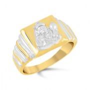 VK Jewels Hanuman Gold and Rhodium Plated Alloy Ring for Men - FR2295G [VKFR2295G18]