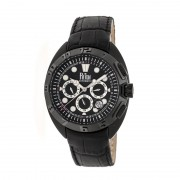 Reign Ronan Automatic Leather-Band Watch w/Day/Date - Black REIRN3405