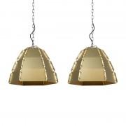 QAZQA Zestaw 2 lamp wiszących Niro złota