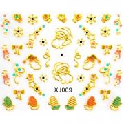 Folie Sticker 3D unghii, model xj009