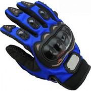 Blue Pro Biker Riding Hand Glove (L Size)