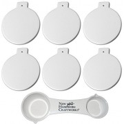Christmas Ball Ornaments and NHC Measuring Spoon - Set of 6 - Host Your Own Ceramic Painting Party
