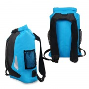 25L Outdoor Waterproof Bag Bucket Floating Backpack with Reflective Strap - Baby Blue