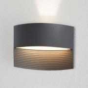 ECO Light Venkovní nástěnné LED svítidlo Lotus, antracitová