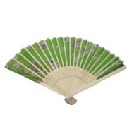 New Jaipur Handicraft Hukum Mere Aaka Foldable Floral Print Green Hand Fan(Pack of 5)