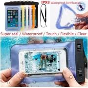 Waterdichte Hoesje voor alle Telefoons tot 6 inch – Waterdicht tot 10 meter - Waterproof Case / Pouch – Voor ALLE SMARTPHONES -DONKER BLAUW- Underdog Tech