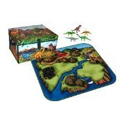 Dinosaur Collector Zip Bin Toy Box & Playmat with 5 Dinosaurs