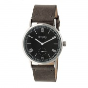 Simplify The 5100 Leather-Band Watch - Silver/Black/Charcoal SIM5104