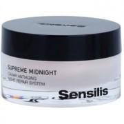 Sensilis Supreme Midnight crema de noche de regeneración profunda con efecto antiarrugas 50 ml
