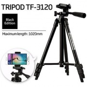 Tech Gear Handy Adjustable Tripod Portable Camera Tripod with 3 Dimensional Head Quick Release Light Weight Digital Camera Tripod for Mobile DSLR Action Camera
