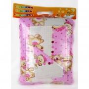 "Бебешки спален комплект ""Pink Bear"" - 100% памук"