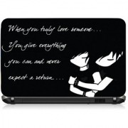 VI Collections WHEN YOU TRUELY LOVE PVC Laptop Decal 15.5