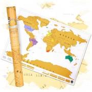 Scratch Map – Världskarta