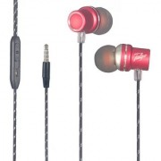 Talgo T-880 Metal Series Earphones Stylishly Designed with MIC and Volume Control TALGO-HS-116-RED