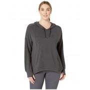 SHAPE Activewear Plus Size Getaway Crop Sweatshirt Black