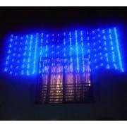 Perdea Digitala Craciun 5x1m 396LED Albastru Fir Negru IP44 P 5817