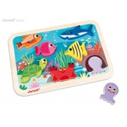 JANOD Układanka drewniana 3D Morze - zwierzęta morskie, J07056